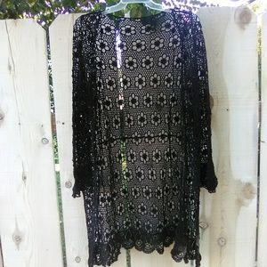 Rare Brandy Melville crochet Tacie cardigan kimono